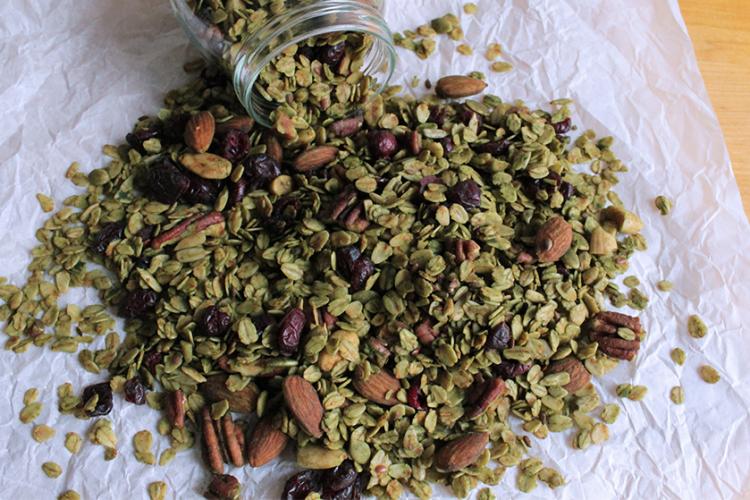 Muesli al tè verde matcha
