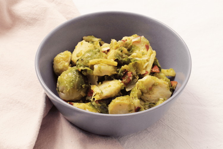 Brussels sprouts with ginger and almonds