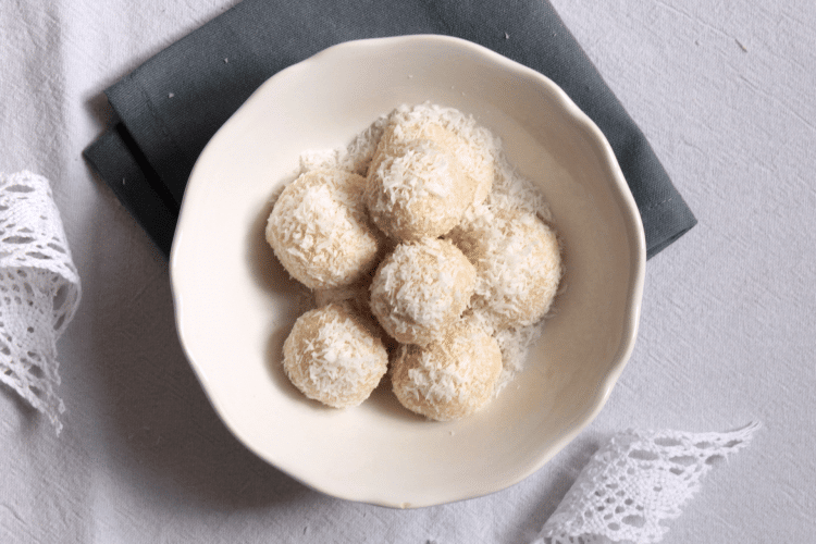 Christmas coconut balls