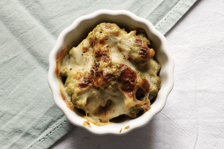 Green Cauliflower Gratin