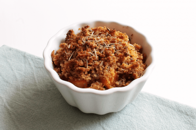 Salty pumpkin crumble