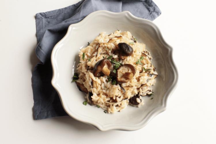 Risotto con funghi shiitake