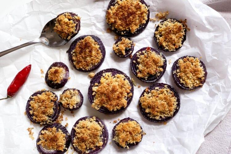 Cipolle di Tropea gratinate al forno
