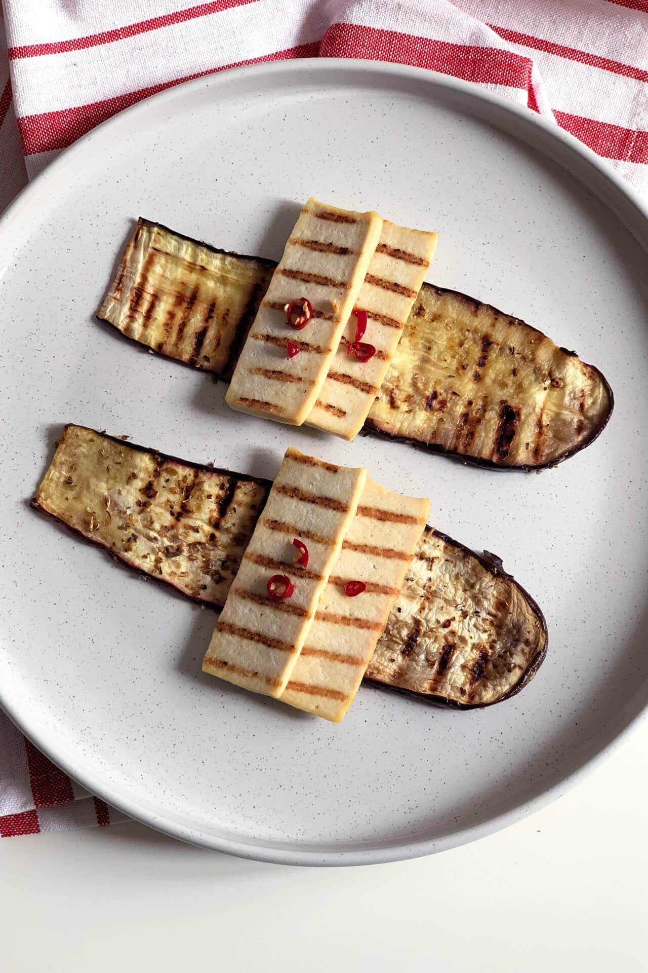 Melanzane e tofu