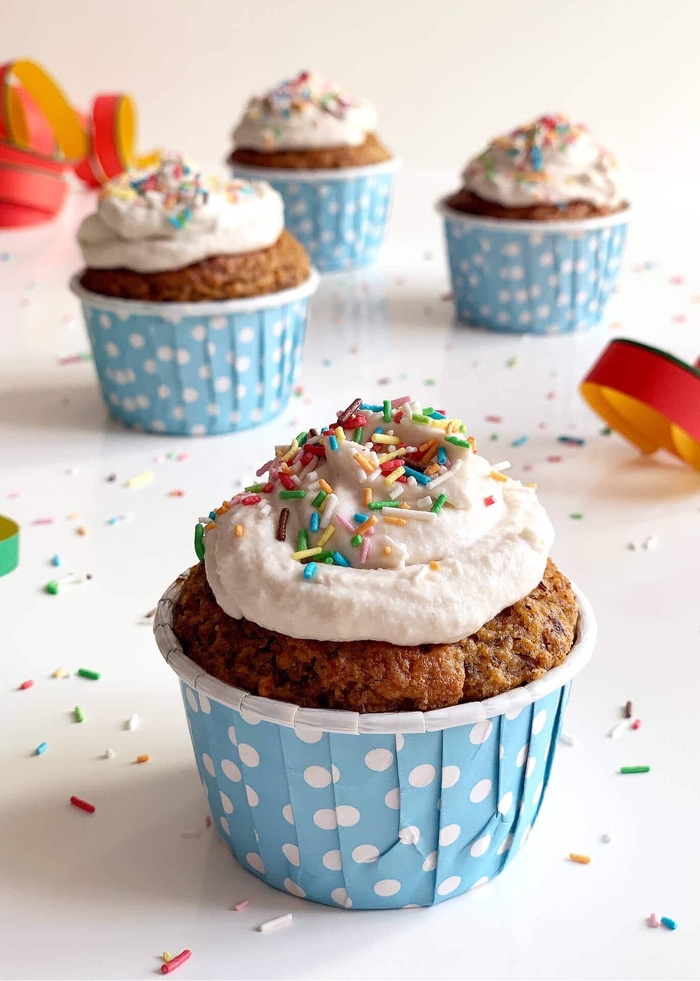 Dolci cupcake di Carnevale